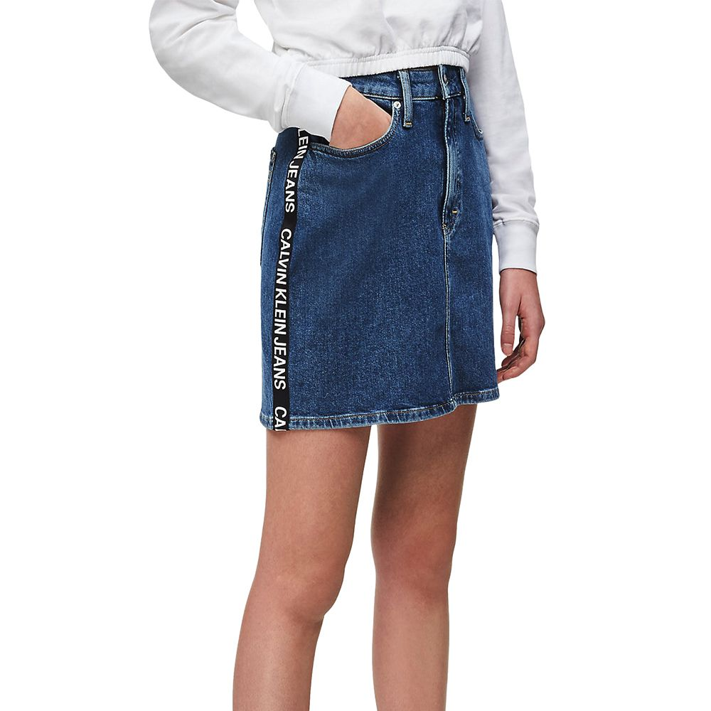 Bild 1 av High Rise Denim Mini Skirt