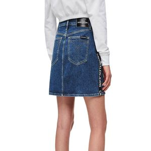 Bild 3 av High Rise Denim Mini Skirt