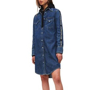Logo Tape Denim Dress