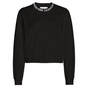 Cropped Logo Collar Sweatshirt