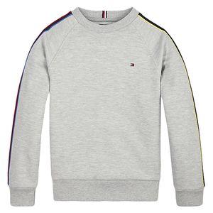 Multicolour Stripe Sleeve Sweatshirt