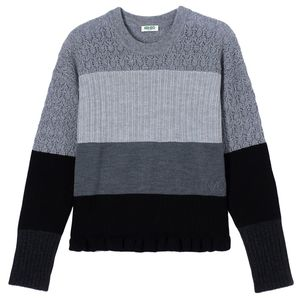Wool And Cashmere Colorblock Jumper