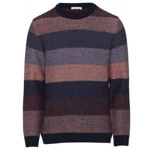 Multi Colored Striped O-neck Knit