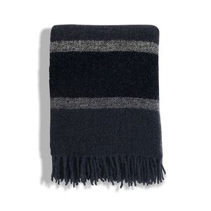 Striped Wool Boucle Throw