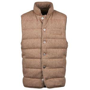 Qulited Herringbone Wool Vest