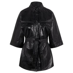 Janis Leather Overshirt