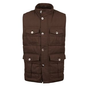 Utility Quilted Linen Vest