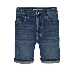 Tapered Denim-Shorts