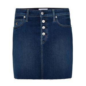 Mid Rise Denim Mini Skirt