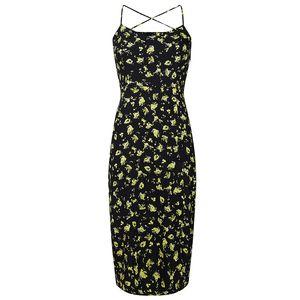 Floral Cross-Back Slip Dress