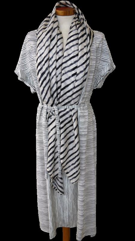Bild 4 av Silk scarf Painted stripe - 135 cm