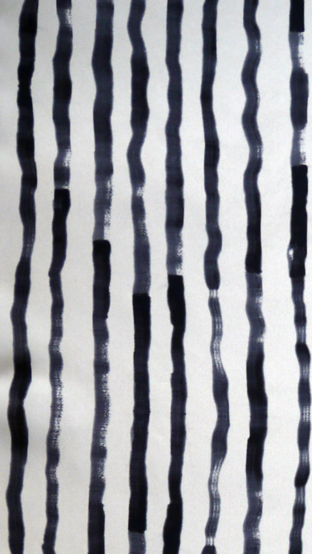 Bild 3 av Silk scarf Painted stripe - 135 cm