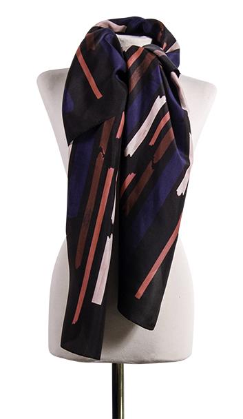 Bild 2 av silk scarf Gentle - 130 cm