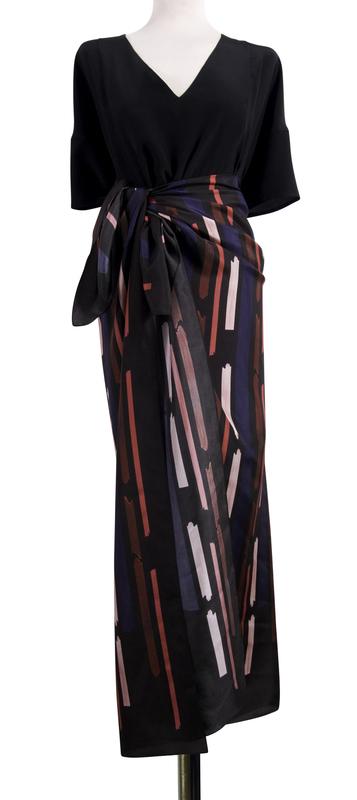 Bild 6 av silk scarf Gentle - 130 cm