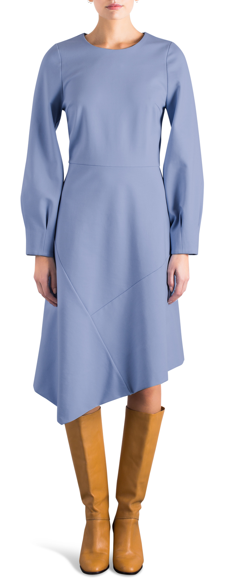assymetrical dress iceblue