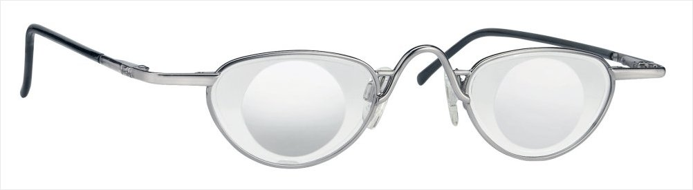 Lupebrille Eschenbach 4x/+16D Noves Sølv