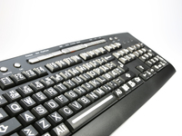 Tastatur for svaksynte Sort