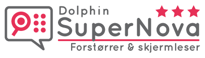 SuperNova skjermforstørring og skjermlesning