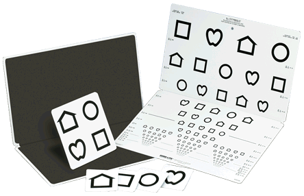 Visustavle for avstand LH-symboler, foldbar