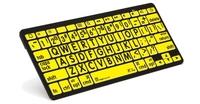Logickeyboard Bluetooth svart på gult