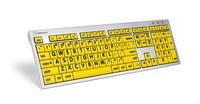 Logickeyboard MAC Alba svart på gult