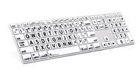 Logickeyboard MAC Original svart på hvit