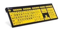 Logickeyboard PC Nero svart på gult