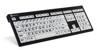 Logickeyboard PC Nero svart på hvit