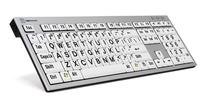 Logickeyboard PC svart på hvit