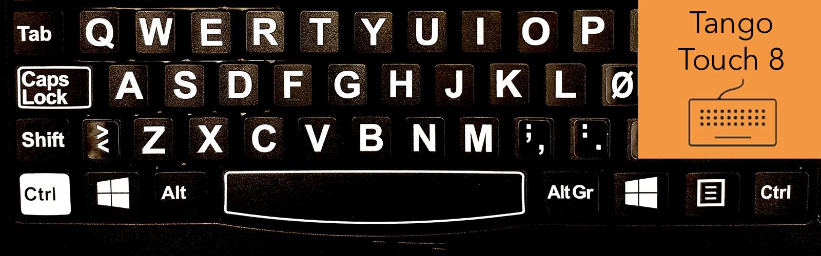 Bilde på TangoTouch tastaturtrening