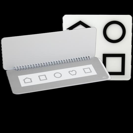 Kontrasttest flippbok Lea symboler