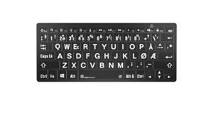 Logickeyboard PC Bluetooth Hvit på svart