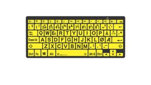 Logickeyboard PC Bluetooth Svart på gul