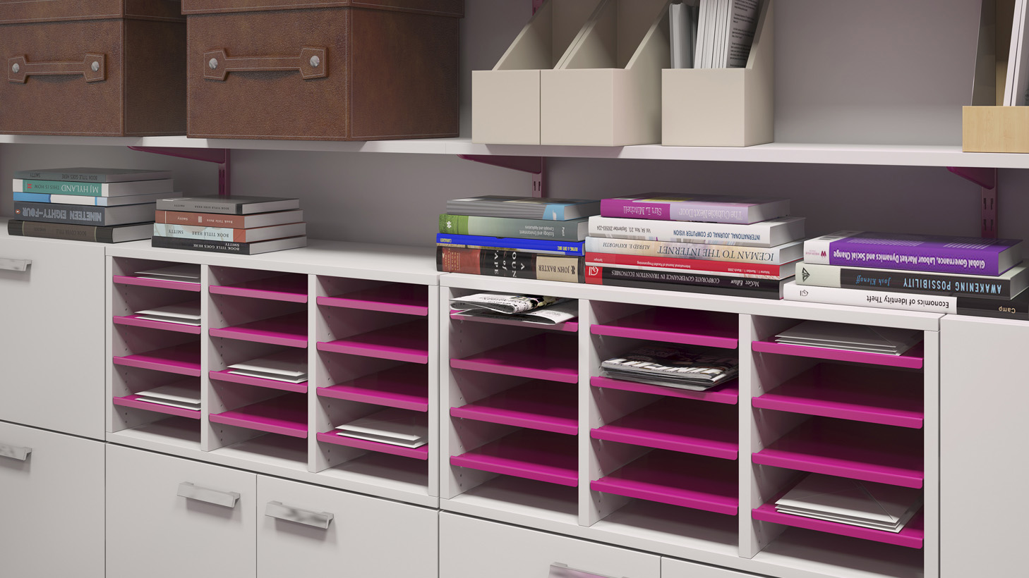 Cabinets and drawer units