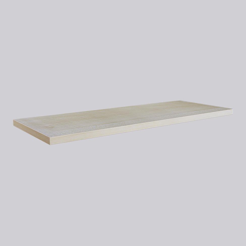High pressure laminated shelves