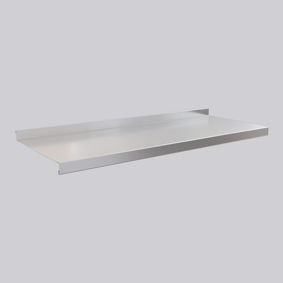 Metal shelf, stainless