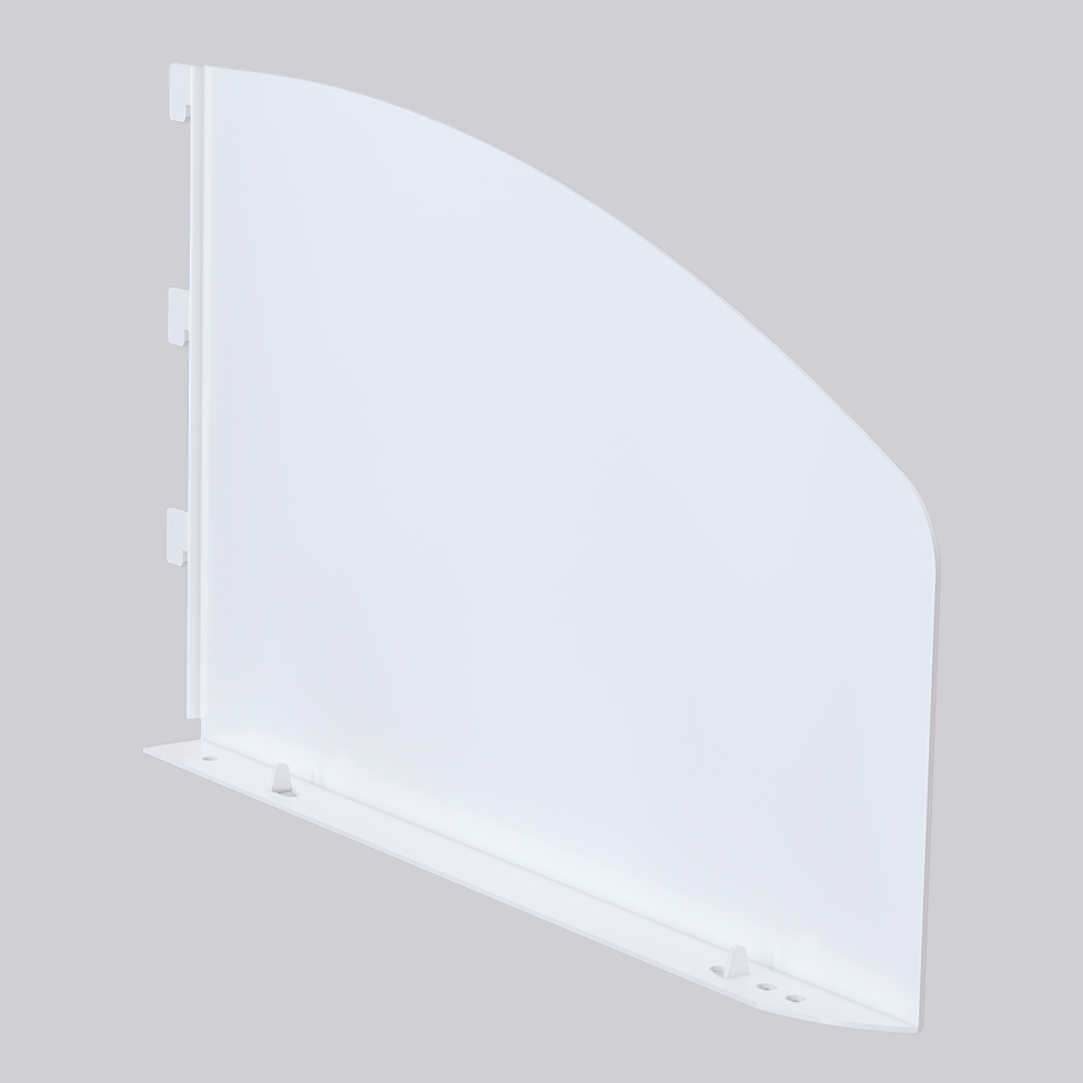Shelf end Rounded height 135mm
