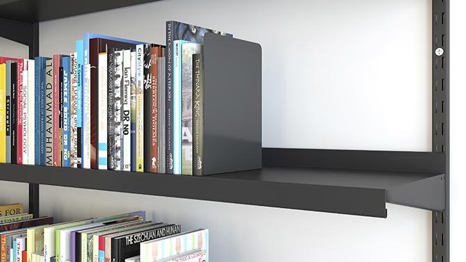 Brackets for metal shelves