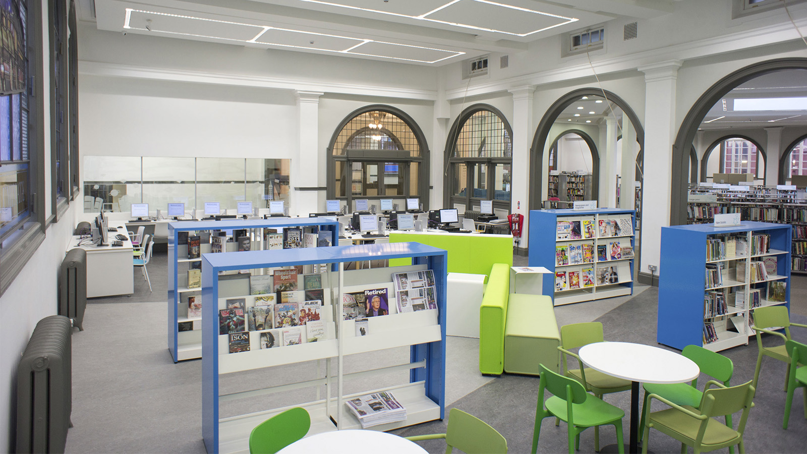 Blackpool stadsbibliotek, England