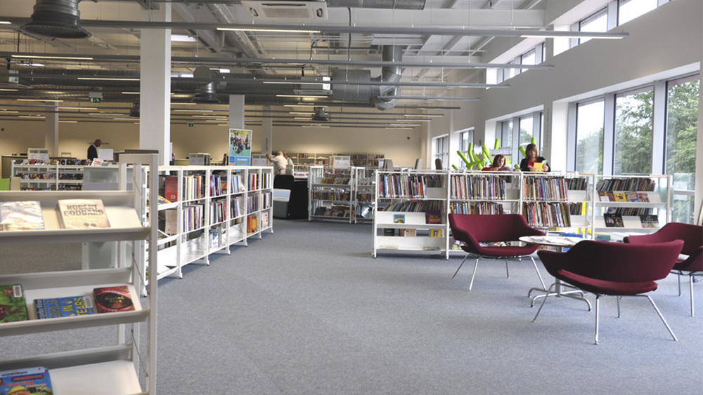 Urmston bibliotek, England