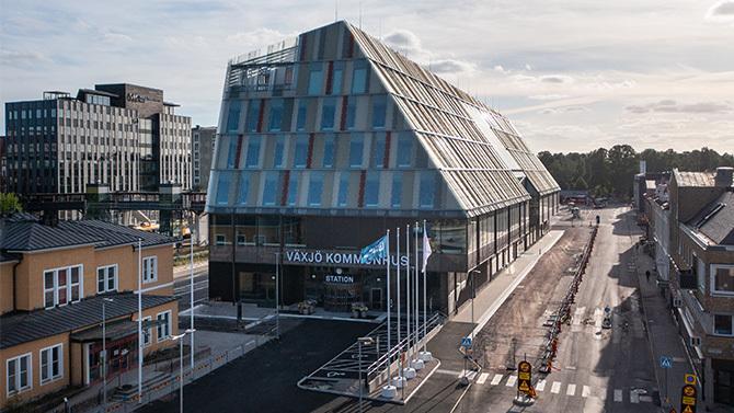 Växjö new Station & Town hall
