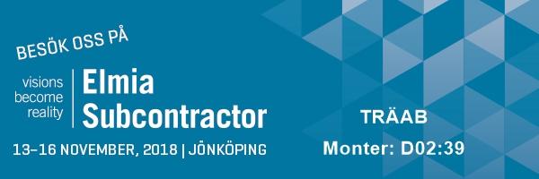 Elmia Subcontractor 13-16 november