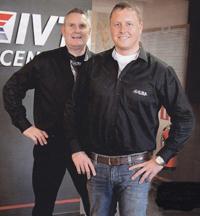 Två av Perfecta Pumps trogna kunder, Lars och Andreas.