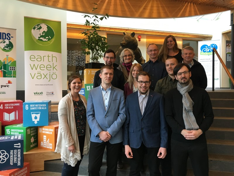 Group picture of CoBiUM project participants in Växjö foto Johanna Wallin