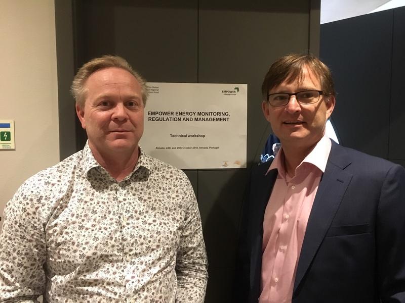 Mikael Pettersson och Kristian Olsér. Foto Lena Eckerberg, Energikontor Sydost