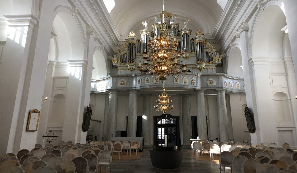 Interiör Fredrikskyrkan i Karlskrona