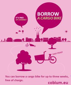 Cargo bike promotion poster.