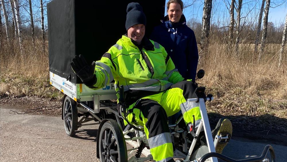 Hammarö kommun valde lastcykel istället för servicebil