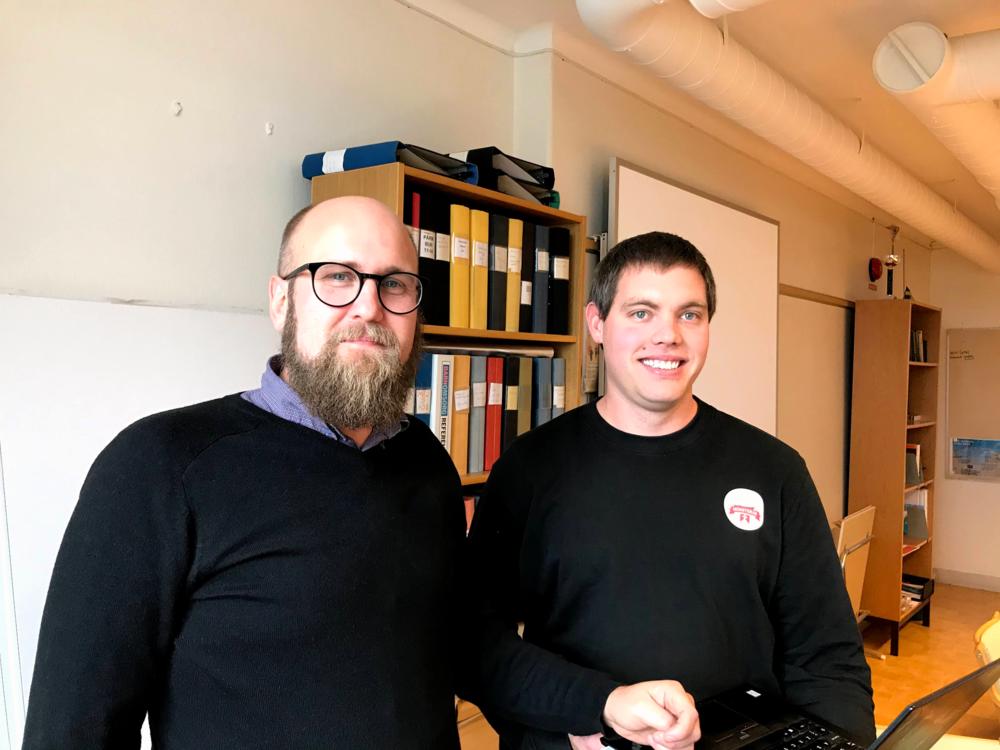 Marcus Olsson och Albin Berg, Mönsterås kommun. Foto: Lena Eckerberg