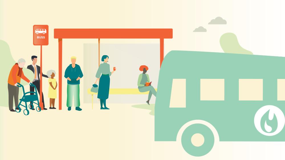 Biogasbussar i kollektivtrafiken